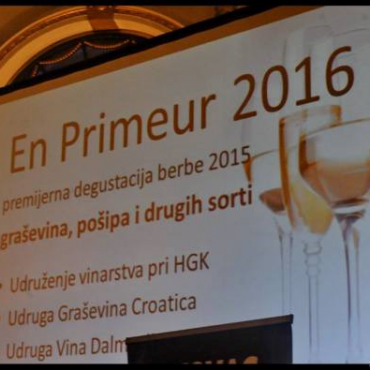 En primeur of grasevina, posip and other wine varities