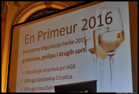 En primeur of grasevina, posip and other wine varities